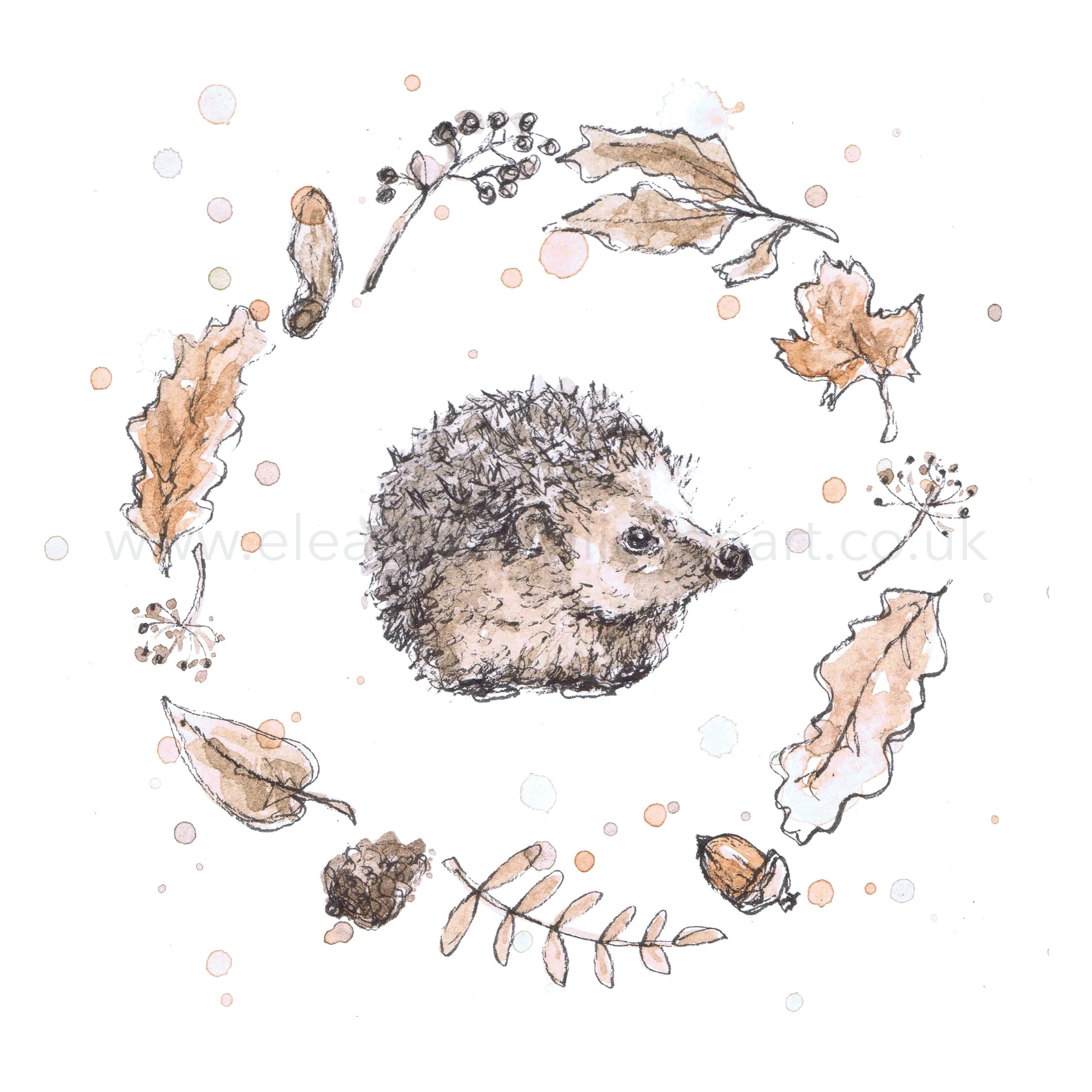 HEDGEHOG WREATH