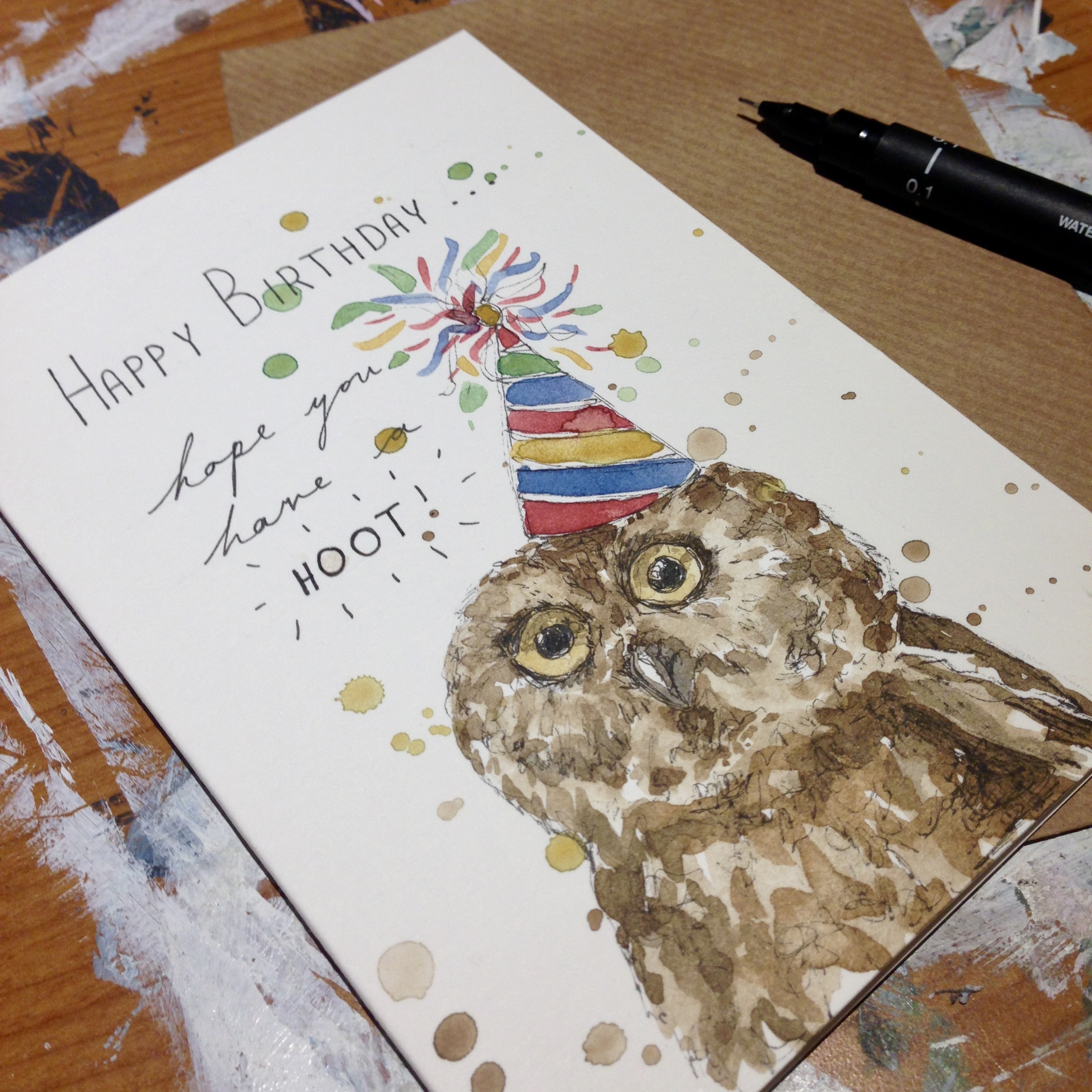 'HAVE A HOOT' BIRTHDAY CARD
