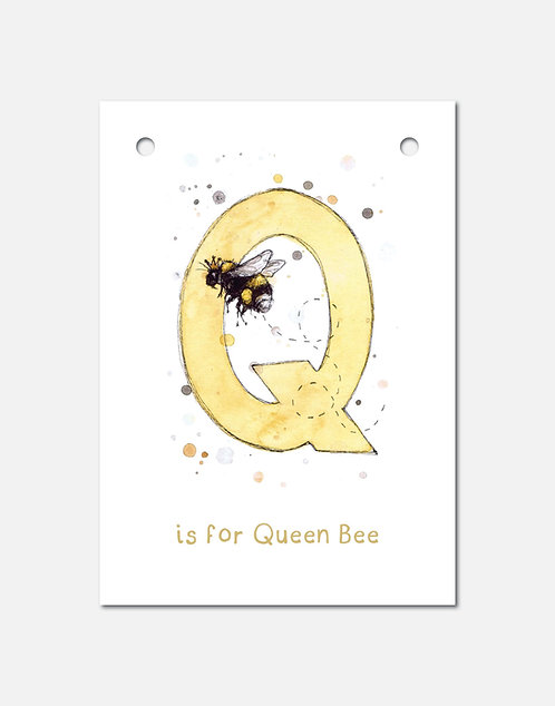 Q is for Queen Bee | Alphabet Bunting