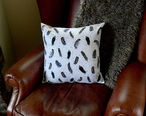 Game Bird Feathers Design | Single Cushion