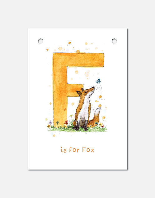 F is for Fox | Alphabet Bunting