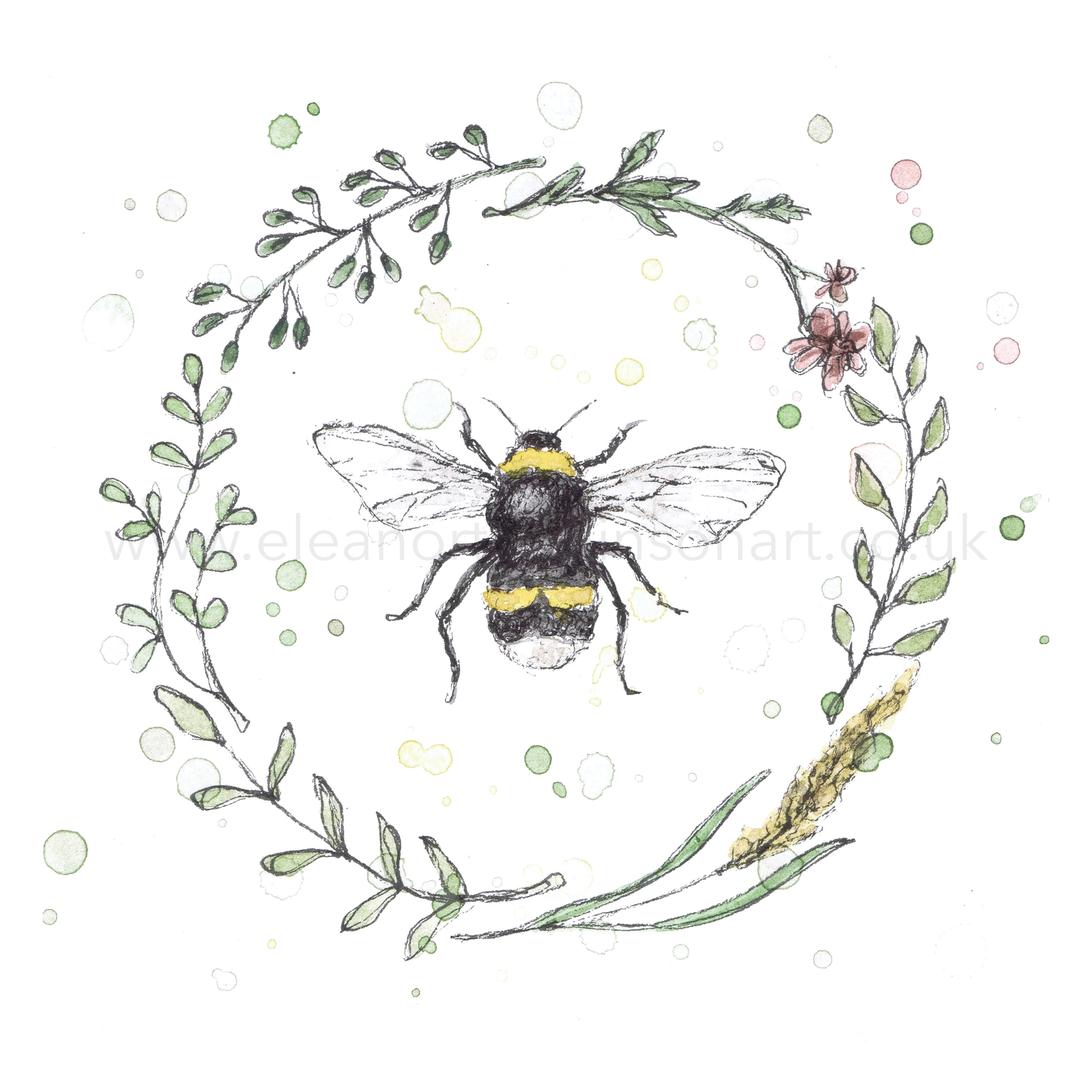 GARDEN BEE WREATH III