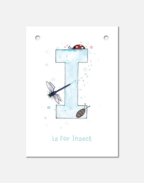 I is for Insect | Alphabet Bunting