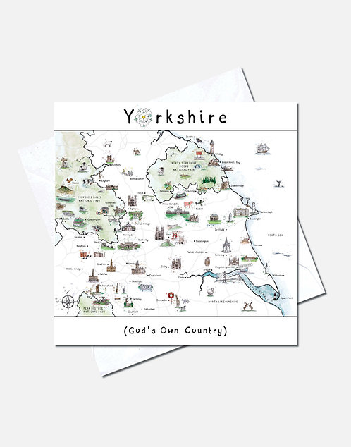 God's Own Country, A Very Yorkshire Map | Card Design