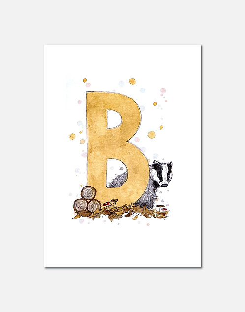 Letter B | Personalisable Alphabet Limited Edition Print