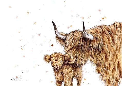 Highland Kiss | Original Ink & Watercolour
