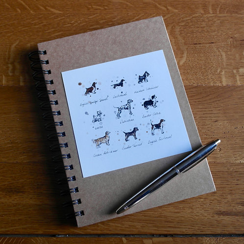 Dog Breeds | A5 Notebook