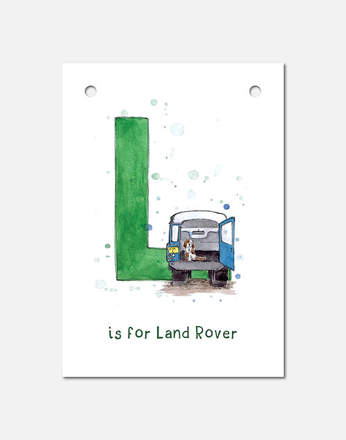 L is for Land Rover | Alphabet Bunting
