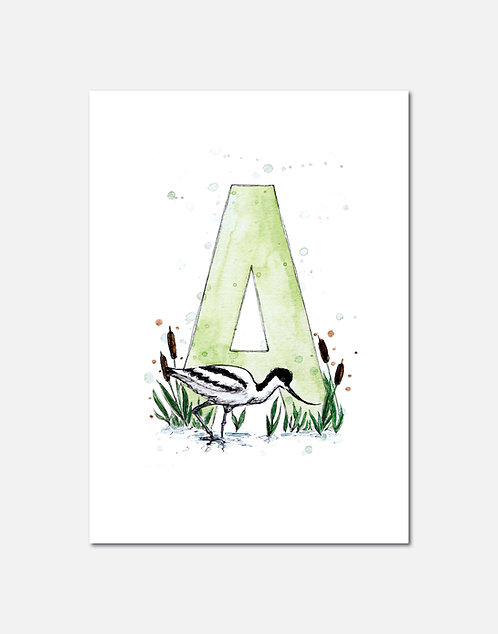 Letter A | Personalisable Alphabet Limited Edition Print