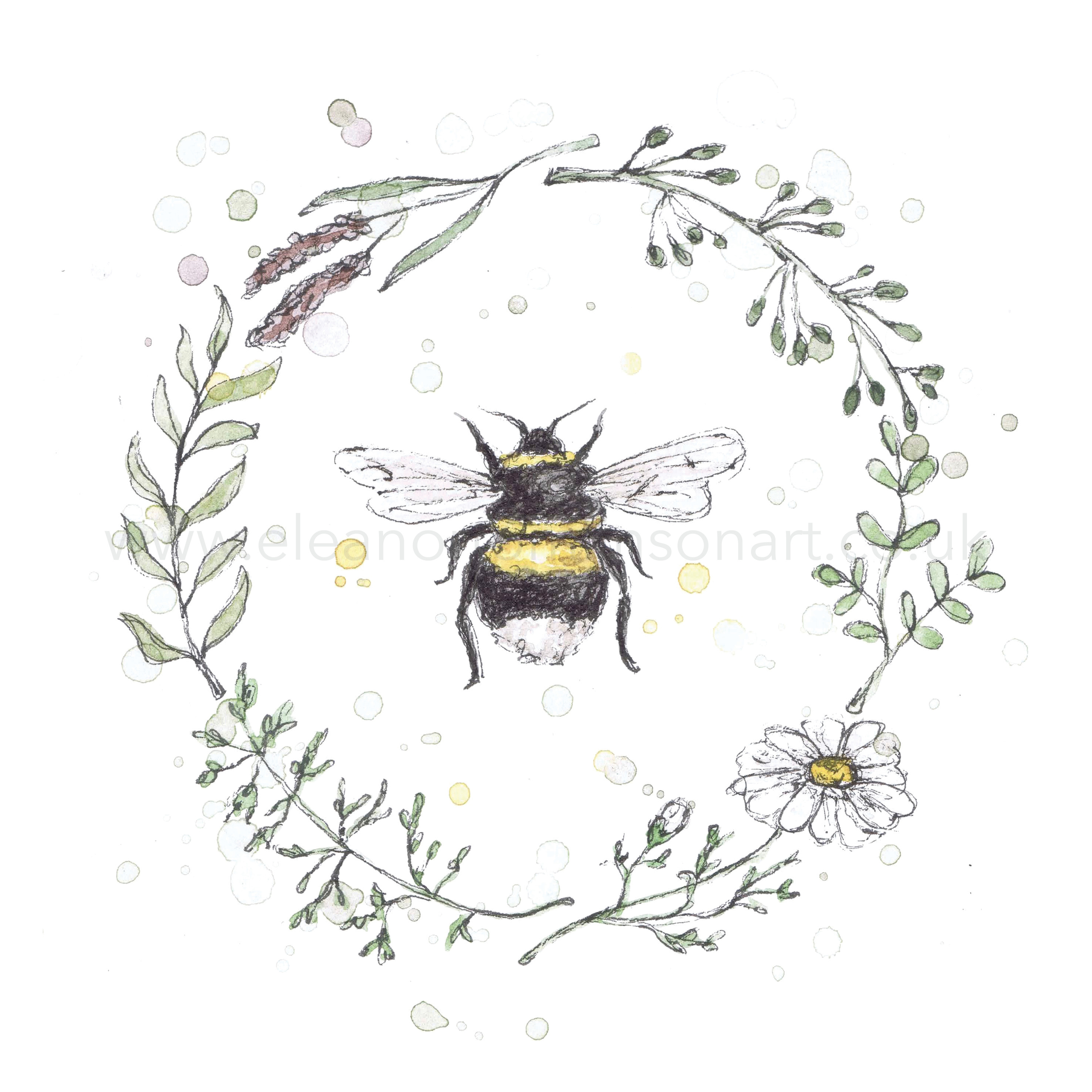GARDEN BEE WREATH II