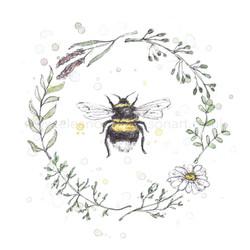 GARDEN BEE WREATH II