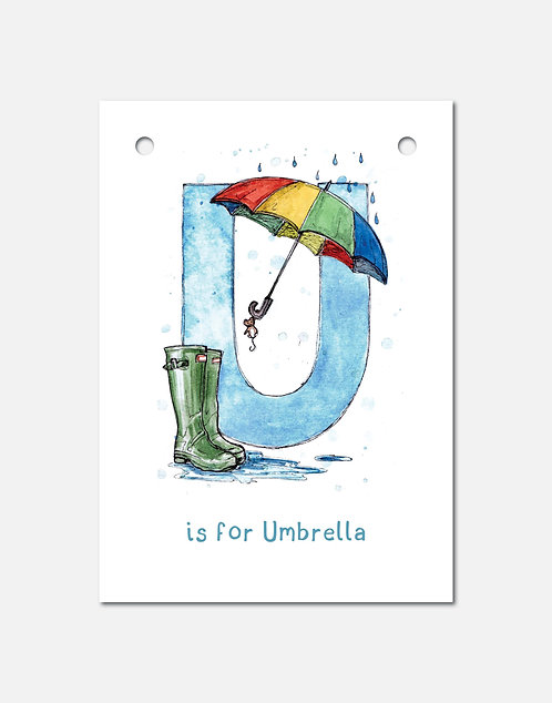 U is for Umbrella | Alphabet Bunting