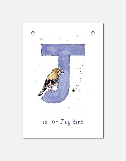 J is for Jay Bird | Alphabet Bunting