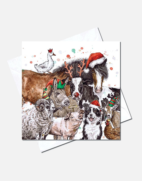 Herd it's nearly Christmas? | Card Design