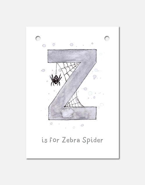Z is for Zebra Spider | Alphabet Bunting