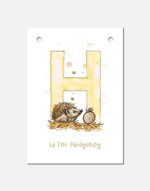 H is for Hedgehog | Alphabet Bunting