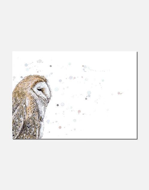 Barn Owl | Original Ink & Watercolour