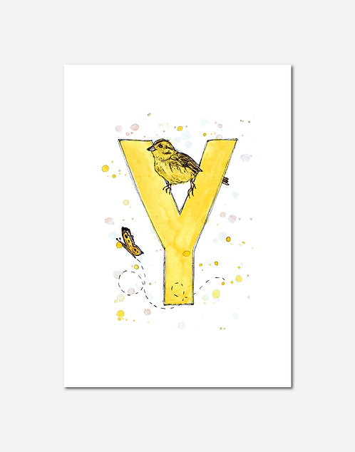 Letter Y | Personalisable Alphabet Limited Edition Print