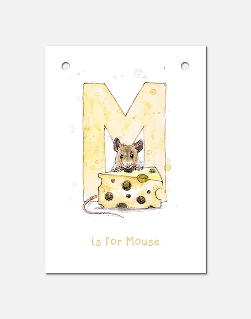 M is for Mouse | Alphabet Bunting