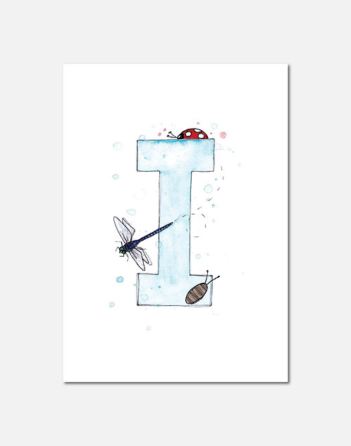Letter I | Personalisable Alphabet Limited Edition Print