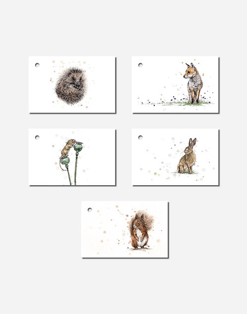 Woodland Collection | Mixed Set of 5 Gift Tags