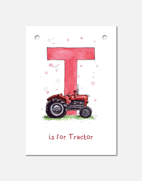 T is for Tractor | Alphabet Bunting