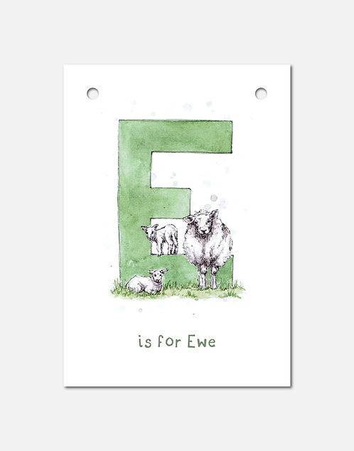 E is for Ewe | Alphabet Bunting