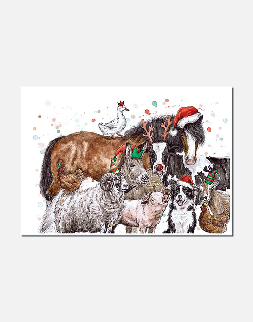 Herd it's nearly Christmas?   Original Ink & Watercolour