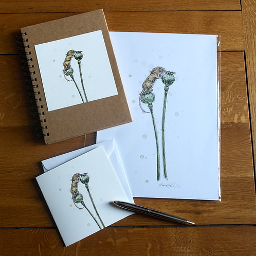 'Almost There' Gift Set   Print, Notebook & Card