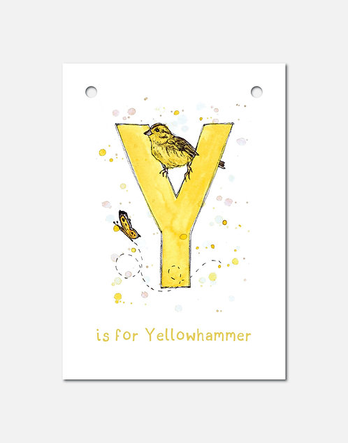 Y is for Yellowhammer | Alphabet Bunting
