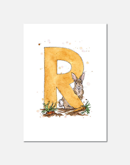 Letter R | Personalisable Alphabet Limited Edition Print