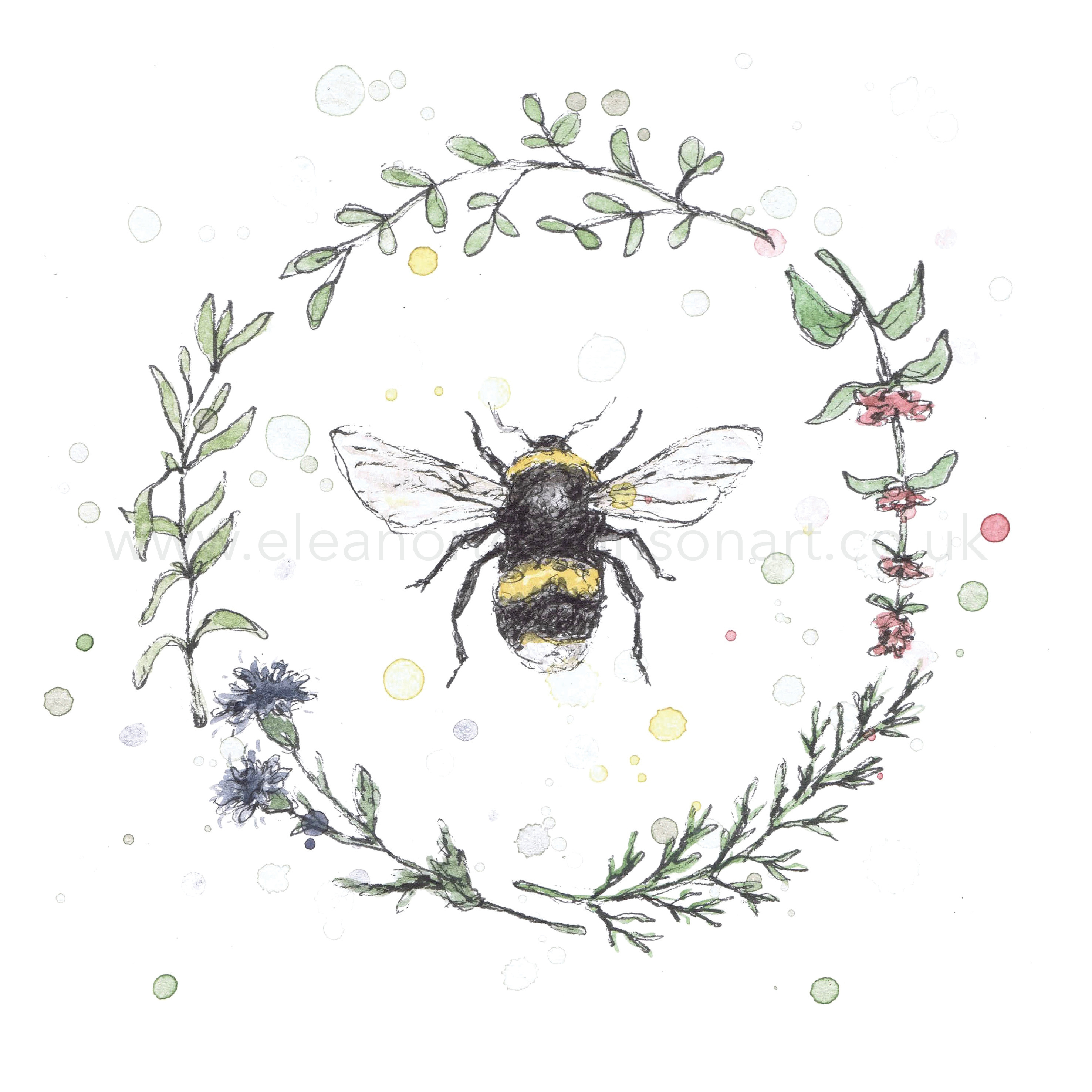 GARDEN BEE WREATH I