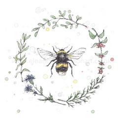 GARDEN BEE WREATH I