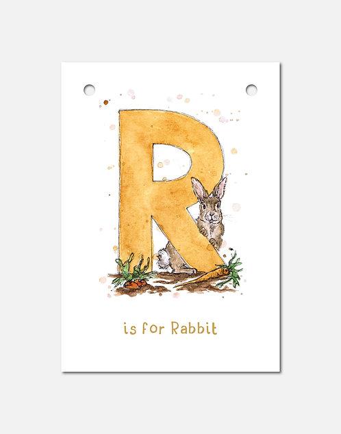 R is for Rabbit | Alphabet Bunting