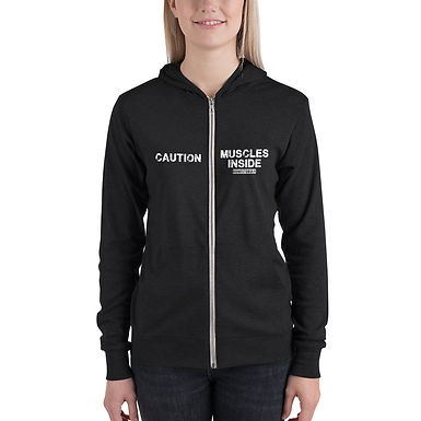 Hoodie - Caution Muscle Inside - Womens