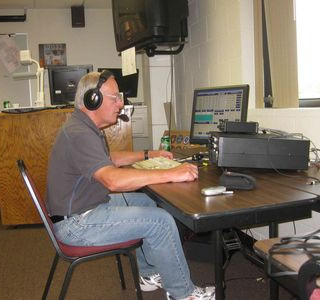 Fonstad of Amherst operates the phone station
