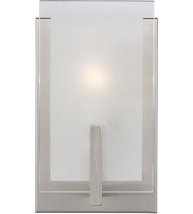 Sea Gull 4130801-962 Syll Brushed Nickel Wall Bath Fixture Wall Light
