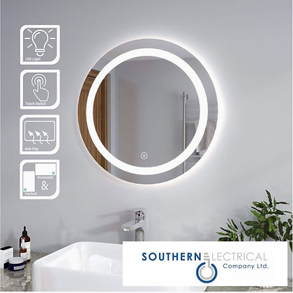 Circular Mirrors with LED Light