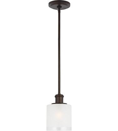 Sea Gull 6139801-710 Norwood Burnt Sienna Mini-Pendant Ceiling Light