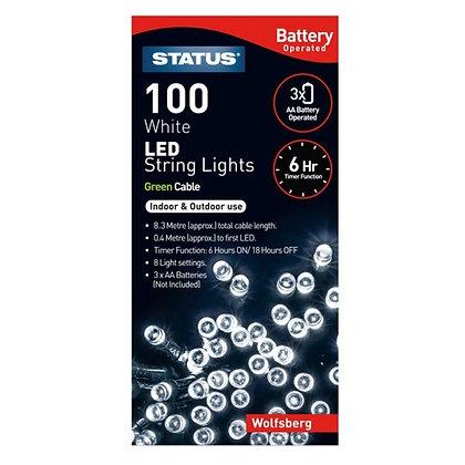 Status Wolfsburg 100 White LED String Light