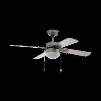 Eglo 35041 Gelsina Ceiling Fan & Light Matt Nickle