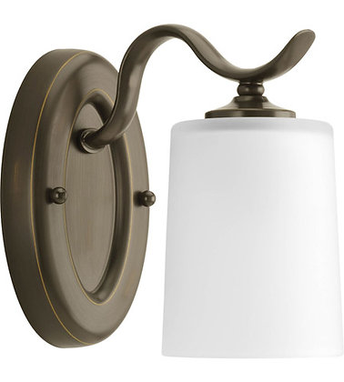 Progress P2018-20 Inspire 1 Light 5 inch Antique Bronze Bath Vanity Wall Light