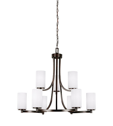 Sea Gull 3139109-710 Hettinger 9 Light Burnt Sienna Chandelier