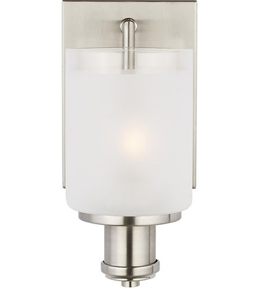 Sea Gull 4139801-962 Norwood Brushed Nickel Wall Bath Sconce