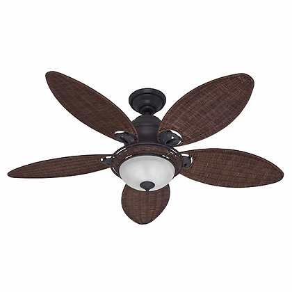 Hunter Caribbean Breeze 54-in Satin Bronze Incandescent Indoor Ceiling Fan