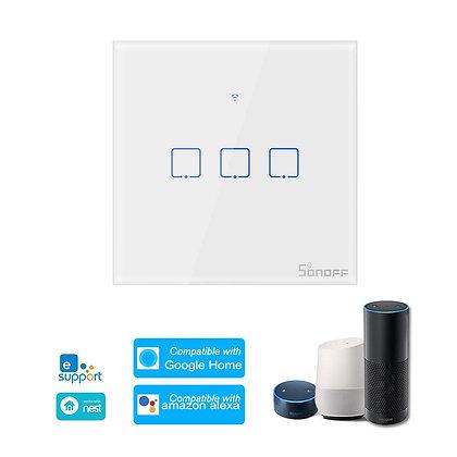 SONOFF T1UK3C-TX 86 WiFi Smart Switch APP RF433 Remote Control