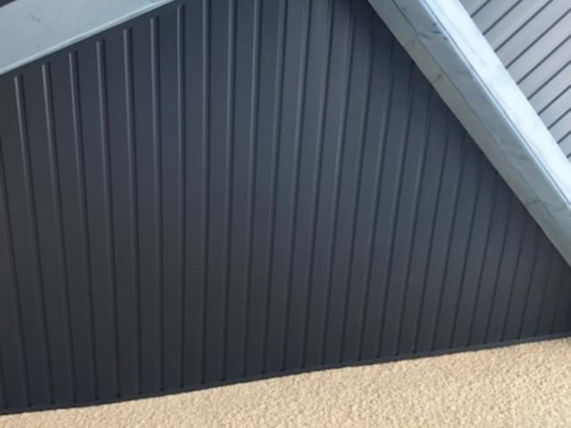 Refection habillage bandeau de toit alu apres les travaux