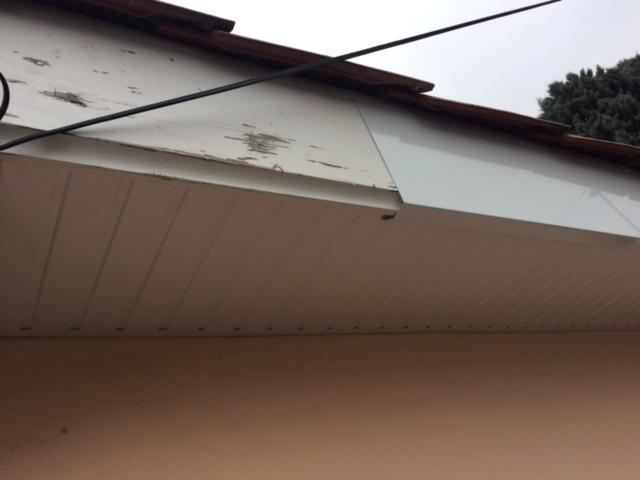 Refection habillage bandeau de toit alu blanc