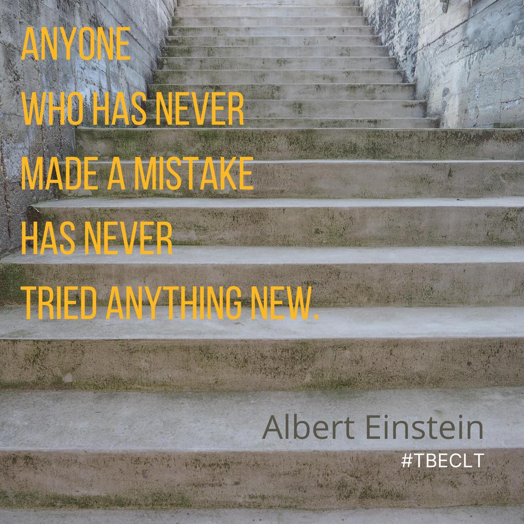 Anyone who has never made a mistake has
