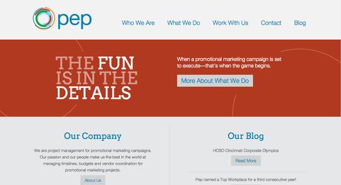 Website + Tagline//Pep
